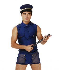 Fantasia Policial Europeu 5 peças Aline Lingerie