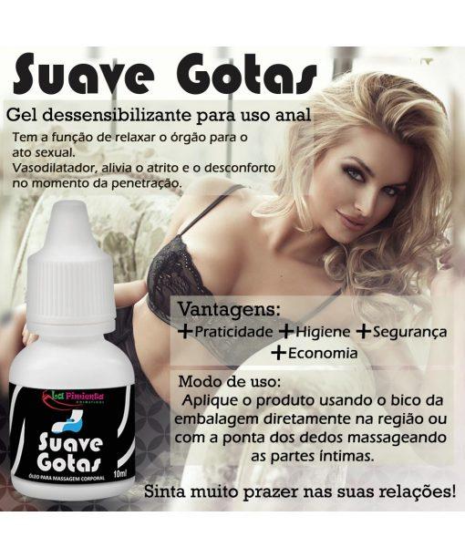Gotas Suave - Dessensibilizante e deslizante para Sexo Anal 10ml - La Pimienta