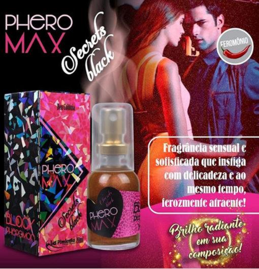 Perfume atrativo Secret Black com Feromônio - La Pimienta