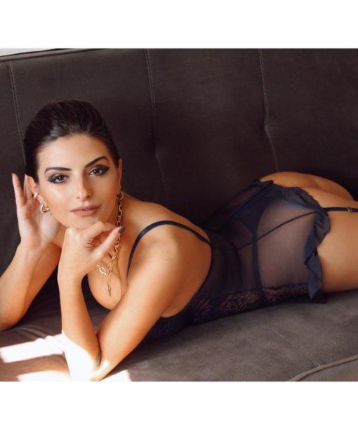 O Espartilho Laisla com Bojo em Tule e Renda - Aline Lingerie é Elegante, sensual e vai deixar você Linda