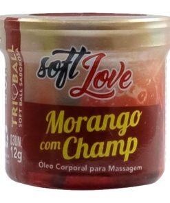 Triball - Bolinha Beijável Soft Love 12g Morango com champanhe