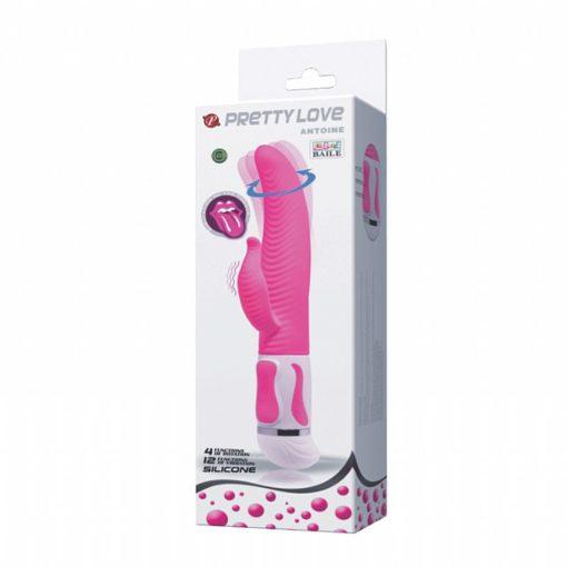 Massageador Antoine Rotativo com Estimulador de língua - Pretty Love