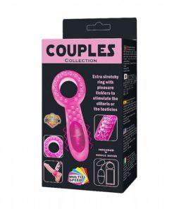 Anel Peniano Duplo Vibro Ultra Potente - Couples Collection