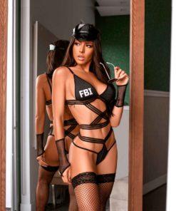 Fantasia FBI 5 peças