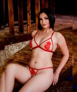 Conjunto Red Hot sem bojo com transparência