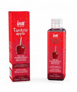 Óleo Trantic Apple para massagem tântrica - Intt super hidratante com propriedades que fazem sua massagem e masturbação ficarem ainda mais envolventes e deslizantes com um arome maravilhoso de Maça do amor!