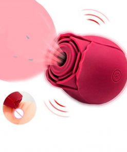 Rosa Vibrador e simulador de sucção sexo oral - Topotoys